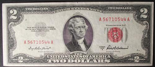 1953A Series $2 US Note FR# 1510 VF+