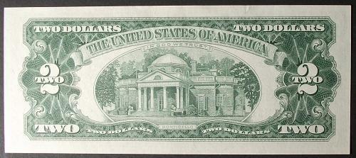 1963 Series $2 U. S. Note FR #1513 AU+
