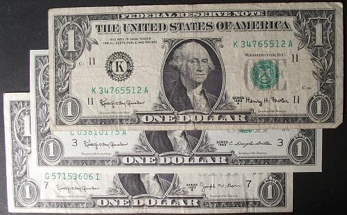 1963, 1963A, 1963B $1 FRN's F-AU