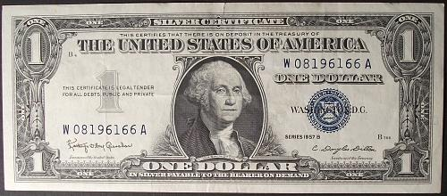 1957B Series Silver Certificate FR#1621 VF