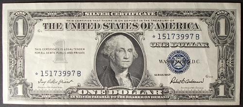 1957 Series Silver Certificate FR#1619* VF++ Star Note