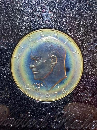 1974 Brown Ike Silver Proof
