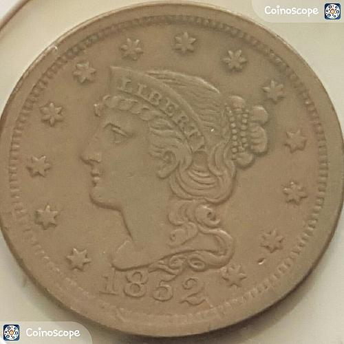 1852 P Braided Hair Liberty Head Large Cents