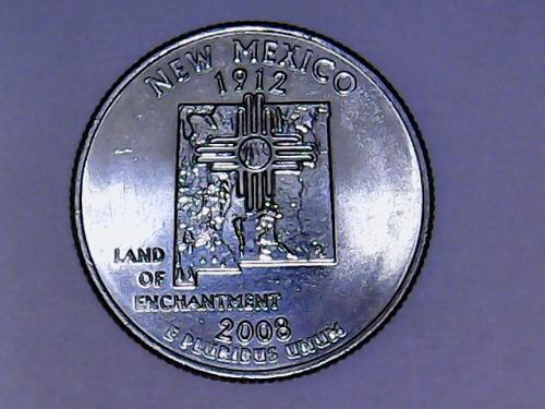 2008 P New Mexico Washington Quarter.