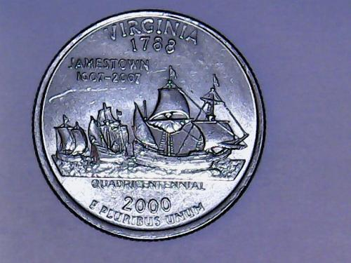2000 D Virginia  State Quarter  See Pictures