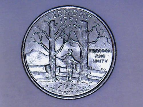2001 D Vermont  State Quarter  See Pictures