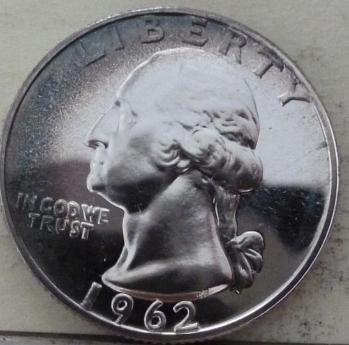 1962-P BRILLIANT PROOF Washington Quarter   # (S-78)