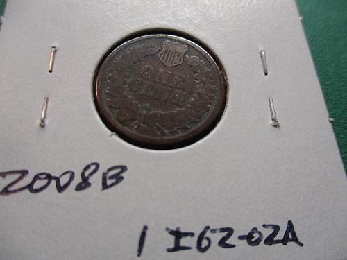 1862  G6 Indian Head Cent.  Item: 1 I62-02.