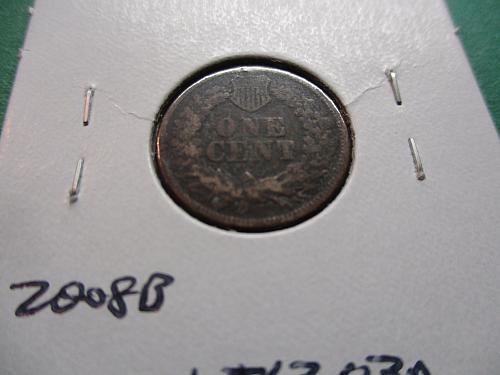 1863  F12 Indian Head Cent.  Item: 1 I63-03.