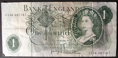 Great Britain P374g Pound VF #3