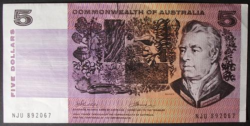 Australia P39c 5 Dollars VF