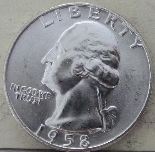 1958-D GEM BRILLIANT UNCIRCULATED Washington Quarter BU ( S-071)