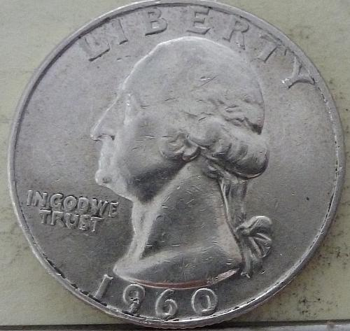 1960-D GEM BRILLIANT UNCIRCULATED Washington Quarter BU ( S-075)
