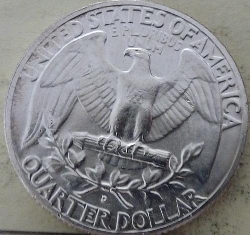 1964-D GEM BRILLIANT UNCIRCULATED Washington Quarter BU ( S-083)