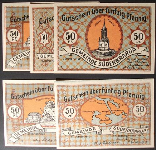 1920 Suderbrarup Notgeld Partial Set