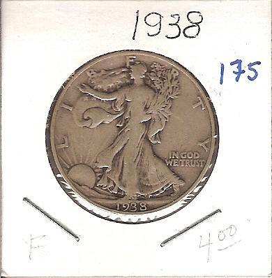 1938 Walking Liberty Half