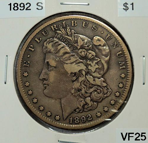 1892 S Morgan $1
