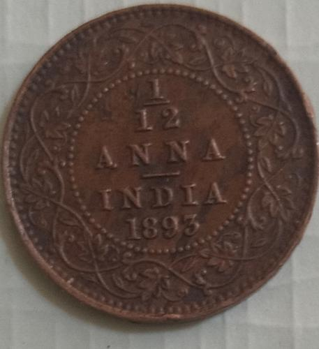 India Victoria used coin..1893