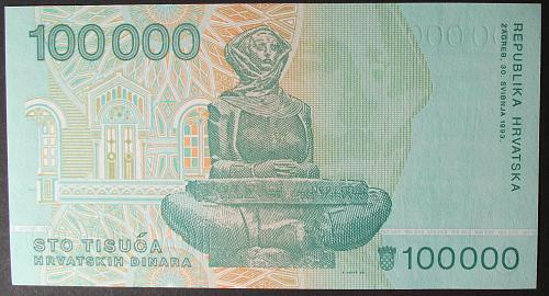 Croatia P27a 100000 Dinara UNC64
