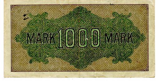 SEPT. 15, 1992 GERMAN REICHSBANKNOTE ONE THOUSAND MARK BANKNOTE