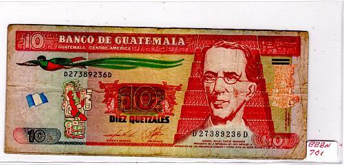 2012/13/14 GUATEMALA TEN QUETZALES  (3NOTES)
