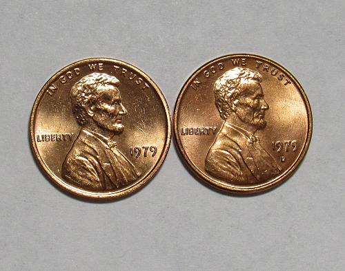 1979 P&D Lincoln Memorial Cents in Red BU condition