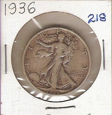 1936 Walking Liberty Half