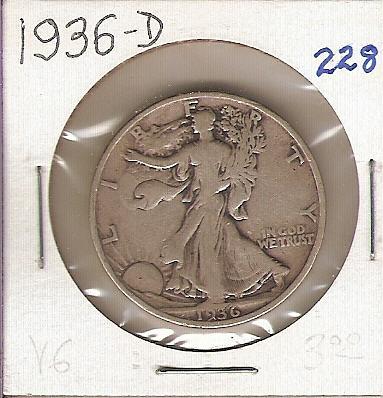 1936-D Walking Liberty Half