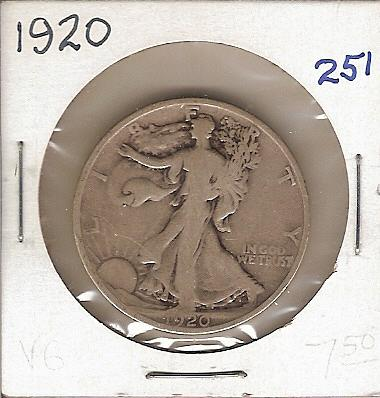 1920 Walking Liberty Half