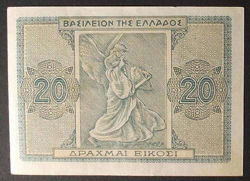 Greece P323 20 Drachmaes VF
