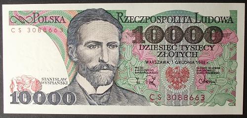 Poland P151b 10000 Zlotych UNC63