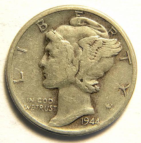1944 Mercury Dimes Winged Liberty Silver Dime F-15 #6