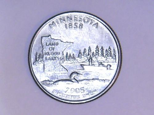 2005 D Minnesota State Quarter  See Pictures