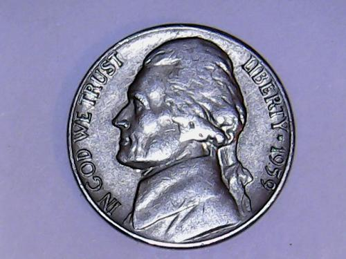 1959 D Jefferson Nickel. See Pictures