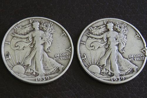 1939 Walking Liberty- P & S