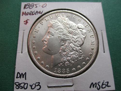 1885-O  MS62 Morgan Dollar.  Item: DM 85O-03.