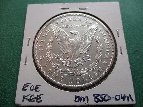 1885-O  AU58 Morgan Dollar.  item: DM 85O-04.