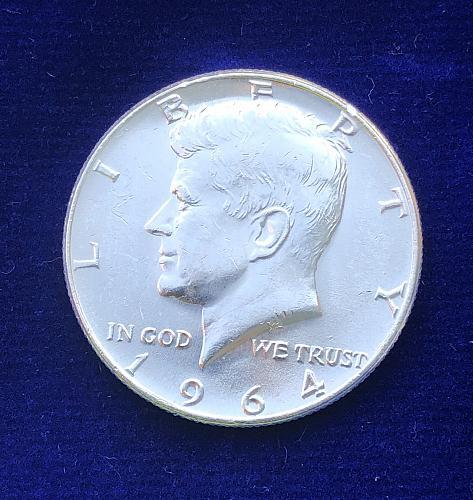 1964 SILVER Kennedy Proof like GEM 💎 PLUS Half-Dollar Coin