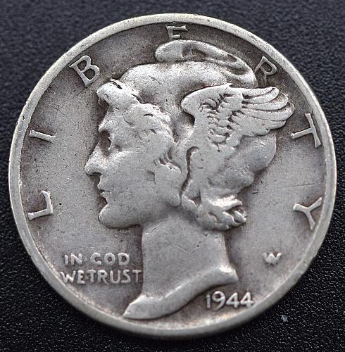 1944 Mercury Dimes Winged Liberty Silver Dime MD4