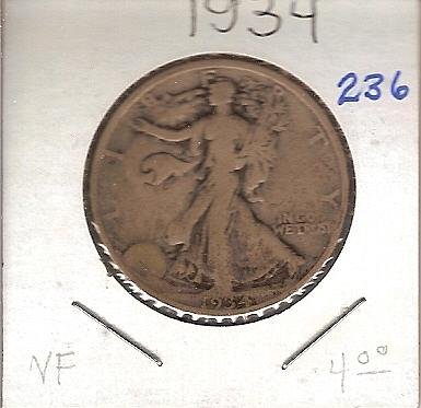 1934 Walking Liberty Half