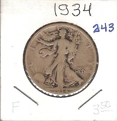 1934 Walking Liberty Half