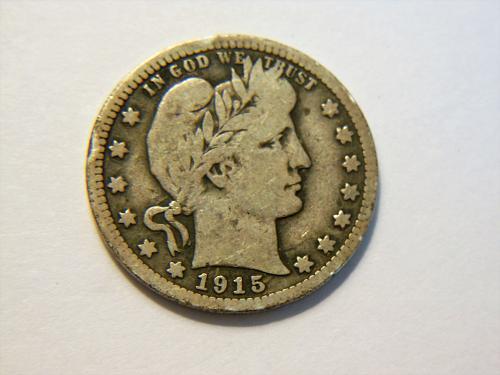 1915-P Silver Barber Quarter
