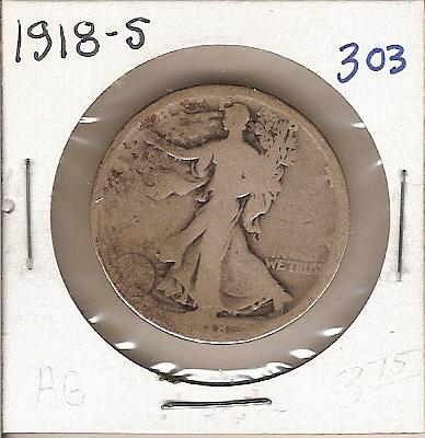 1918-S Walking Liberty Half
