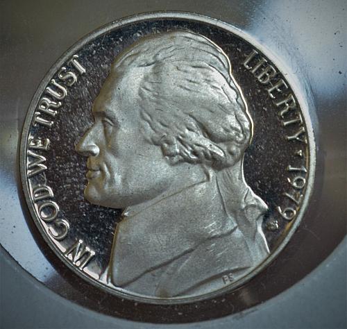 1979 S Jefferson Nickel Proof  DEEP Cameo - RARE Type 2