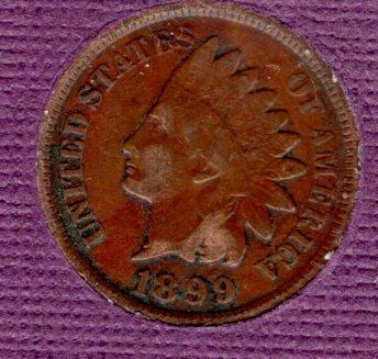 1899 p Indian Head Penny #4