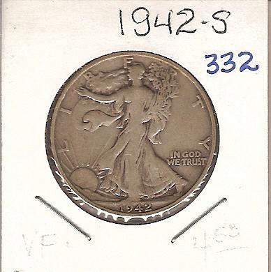 1942-S Walking Liberty Half