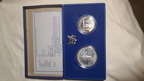 1986 Liberty Dollar & Half Dollar Proof coin set