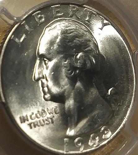 PCGS MS 65 1943 Washington 25c