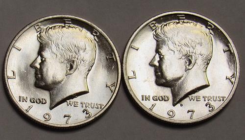 1973 P&D Kennedy Half Dollars in BU Condition