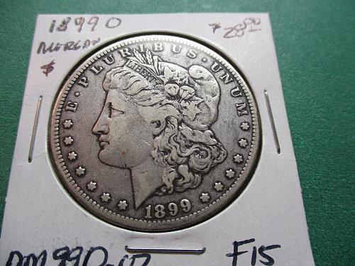 1899-O  F15 Morgan Dollar.  Item: DM 99O-02.